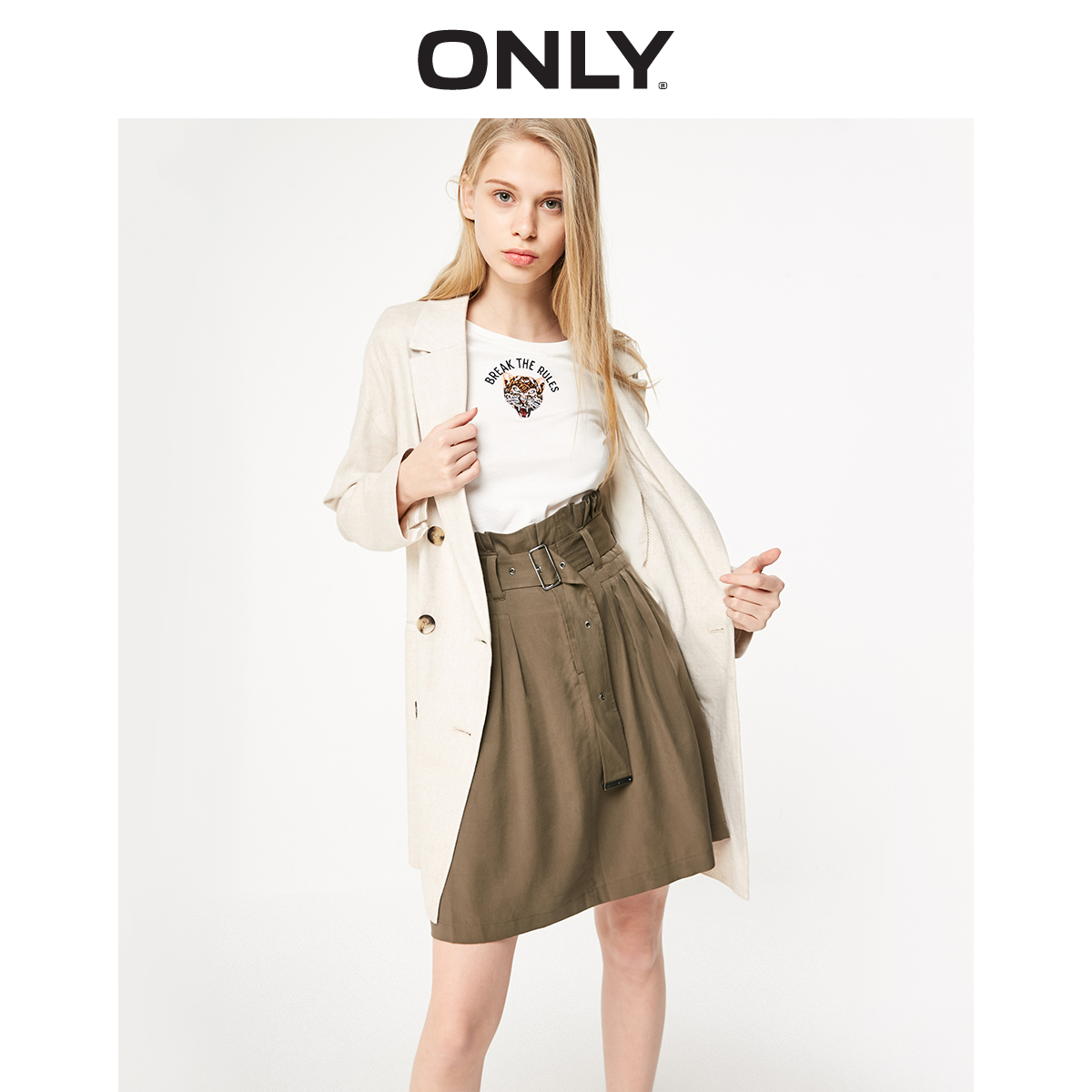 ONLY Women's Mid-length Double-breasted Blazer | 119108536