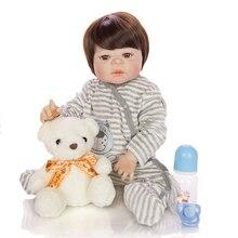 Puzzle toy 55cm bebe Reborn Baby Dolls Handmade Realistic Newborn Silicone Vinyl Baby Dolls gift for Girl Boys Kids Birthday