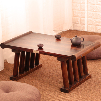 Japanese Antique Wooden Tea Table Solid Paulownia Wood Asian Furniture Living Room Traditional CHABUDAI Tea Center Tray Table living room furniture china classic antique kang table rosewood rectangle small tea coffee desk solid wood teapoy customizable