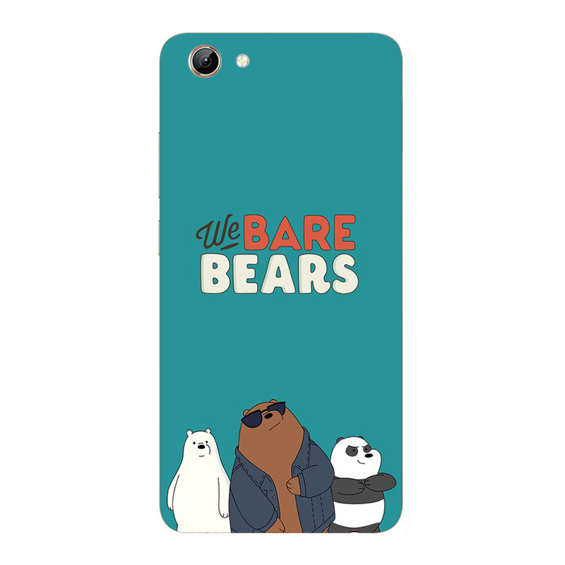We Bare Bears soft Case For Vivo Y21 Y25 Y53 Y53i Y65 Y66 Y67 Y69 Y71 Y71i Y81 Y81i Y83 V5 V5s Lite V7 Plus Phone Printed Cover