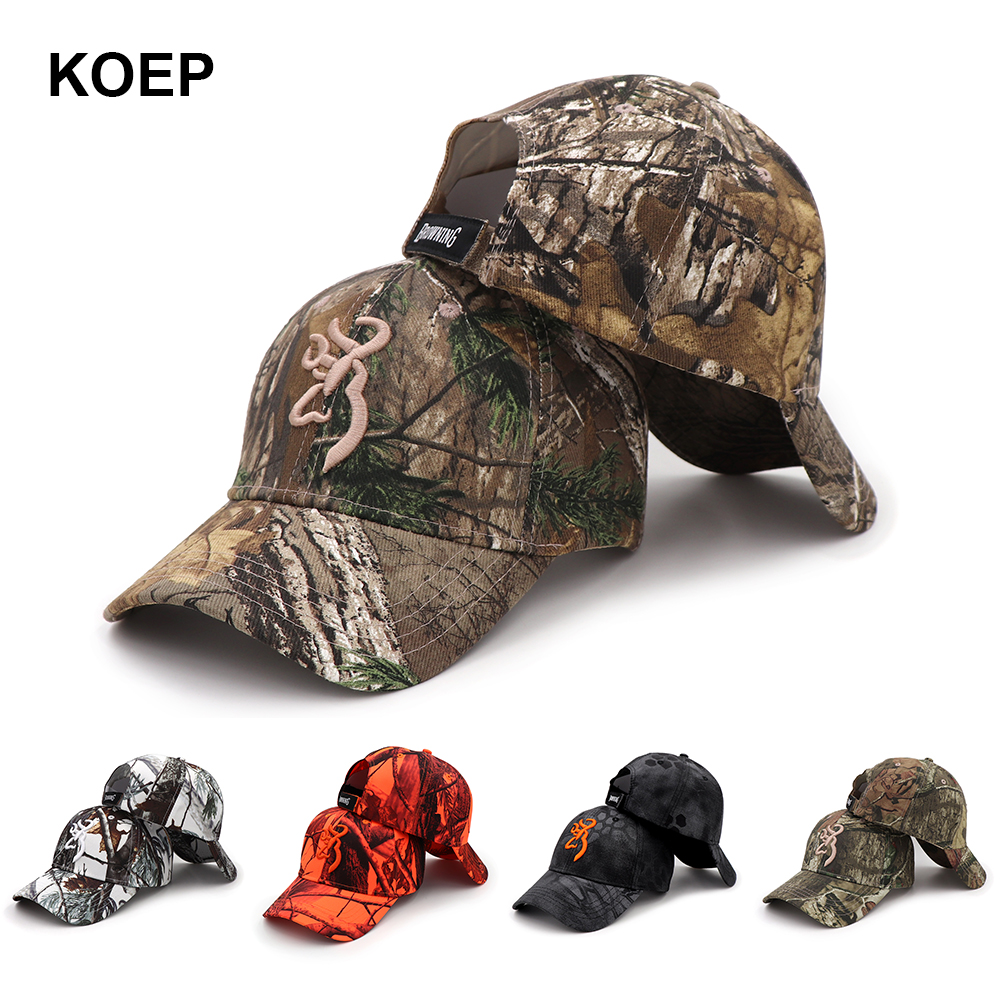 KOEP 2021 New Camo Baseball Cap berretti da pesca uomo caccia all'aperto Camouflage Jungle Hat Airsoft Tactical escursionismo Casquette cappelli 1
