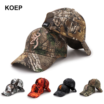 KOEP 2021 New Camo Baseball Cap Fishing Caps Men Outdoor Hunting Camouflage Jungle Hat Airsoft Tactical Hiking Casquette Hats - discount item  25% OFF Hats & Caps