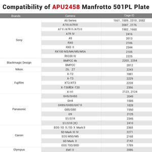 Image 5 - SmallRig Manfrotto 501PL Type Quick Releaseแผ่นสำหรับเลือกSmallRigกรง/DJI Ronin S Gimbal   2458