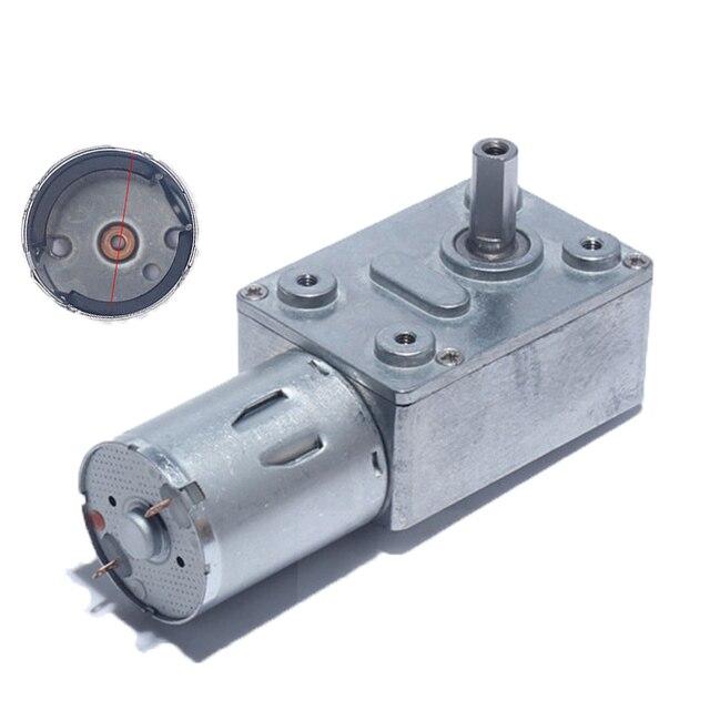 Motor de reducción de 6V 12V 24 V CC, Motor de alto Torque, Turbo de engranaje de gusano para máquina de nido de Campana Extractora, equipo inteligente