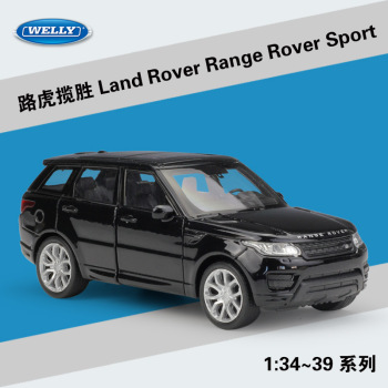Welly 1:36 Land Rover Range Rover Sport alloy car model pull-back vehicle Collect gifts Non-remote control type transport toy image