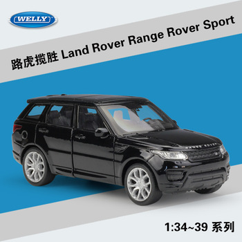 Welly 1:36 Land Rover Range Rover Sport alloy car model pull-back vehicle Collect gifts Non-remote control type transport toy welly 1 36 hyundai santafe suv alloy car model pull back vehicle collect gifts non remote control type transport toy