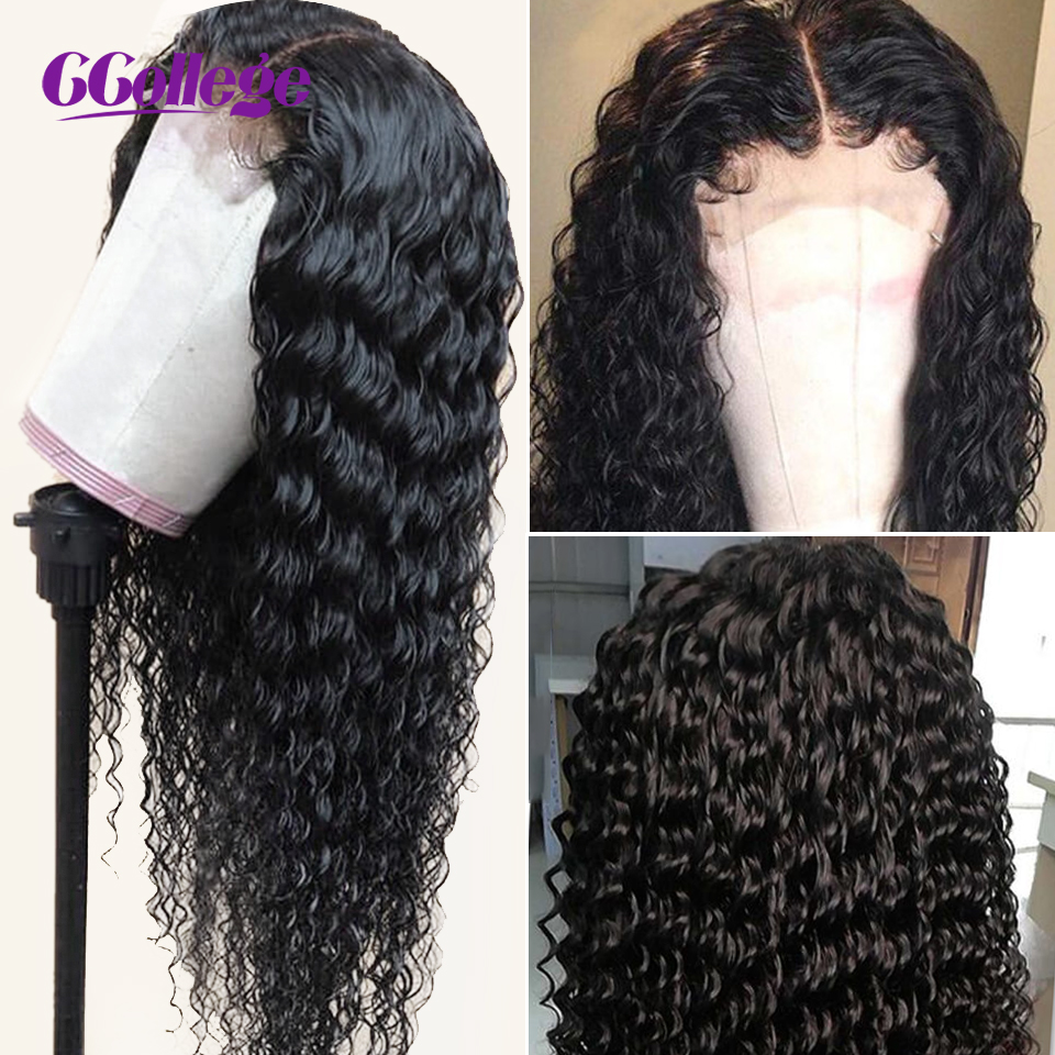 Ccollege Deep Wave 30 Inch 13x6 Lace Front Wigs Human Hair Brazilian Lace Closure 150 High Density Wigs For Black Women Non-Remy