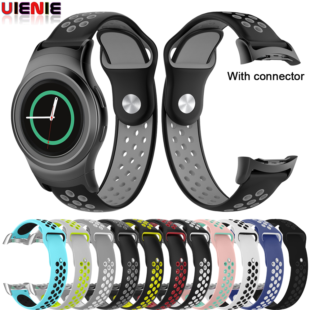 Sport Silicone Watchband For Samsung Galaxy Gear S2 R720 R730 Replacement Bracelet Band Strap For SM-R720 Smart Watch