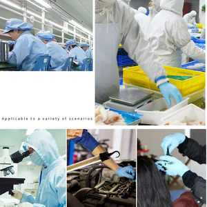 Image 5 - Manufacturers Direct Selling Disposable Nitrile Gloves 100 Pieces Food Protection Tattoo Electronic Experiment Check Wholesale