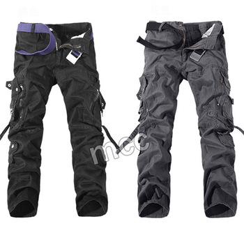 Military Tactical pants men Multi-pocket washed overalls men loose cotton pants male cargo pants for men trousers,size 28-42 1