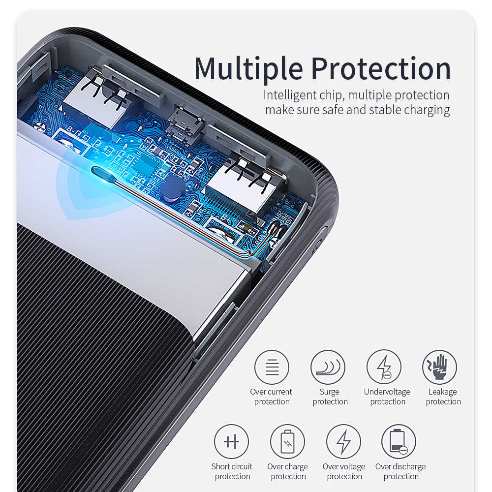 Fpu banco de potência 20000 mah para xiao mi iphone portátil powerbank 20000 mah poverbank telefone carregador móvel bateria externa