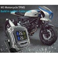 Nowy motocykl w oponach TPMS monitorowanie ciśnienia systemów wodoodporny anti theft uniwersalny zewnętrzny wskaźnik czujników alarmowych terminal w Systemy monitorowania ciśnienia w oponach od Samochody i motocykle na