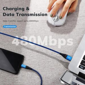 Image 2 - Topk 3パックマイクロusbタイプcケーブル3A高速充電サムスンxiaomi携帯電話データケーブルタイプc xiaomi redmi注8