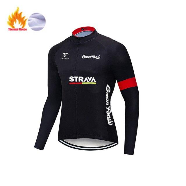 STRAVA – ensemble polaire thermique pour homme, tenue de cyclisme, de Sport, d'équitation, vtt, avec bretelles et pantalon, nouvelle collection hiver 4