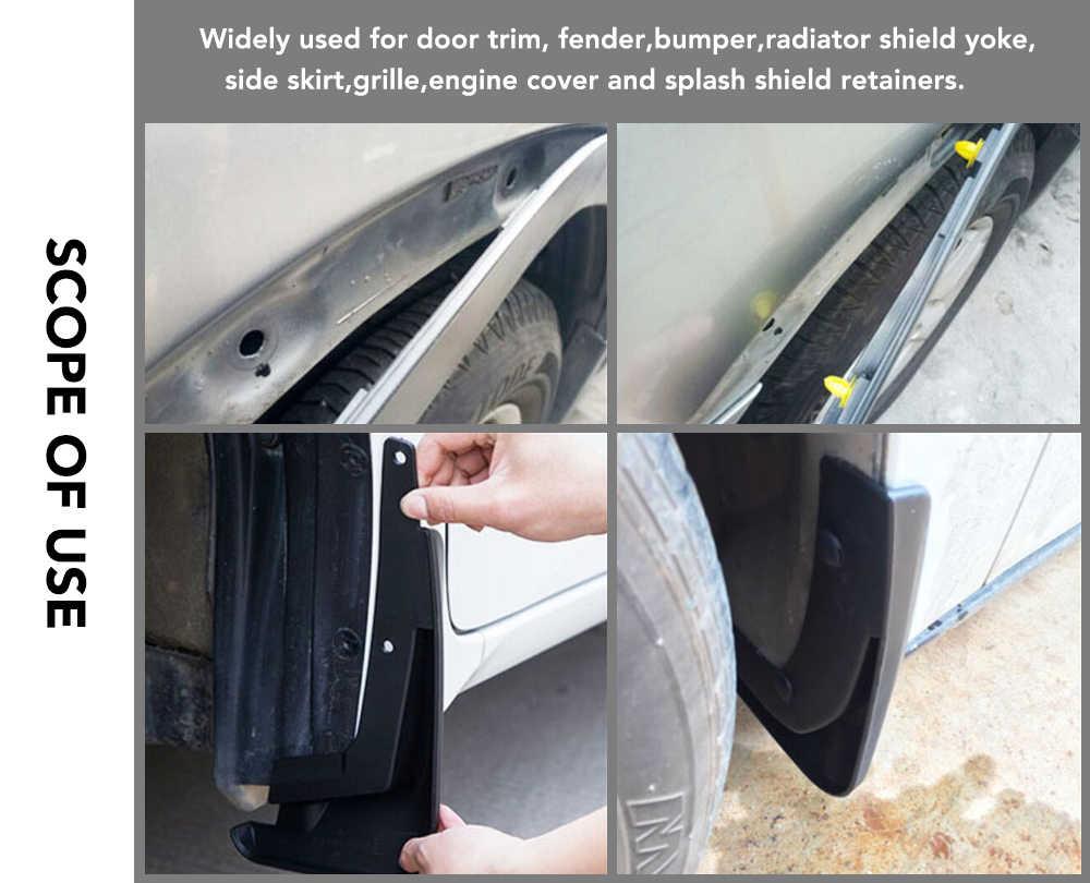 8mm noir Auto attache voiture pare-chocs agrafe pour Hyundai Creta I10 I20 Tucson Elantra Santa Fe 2016 2017 2018 2019