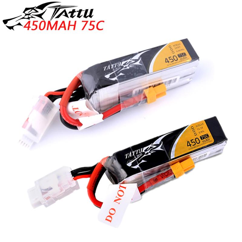 ACE Tattu 7.4V 11.1V 450mAh 75C 3S 4S Lipo Battery with XT30 Plug For FPV Drone Frame aircraft image