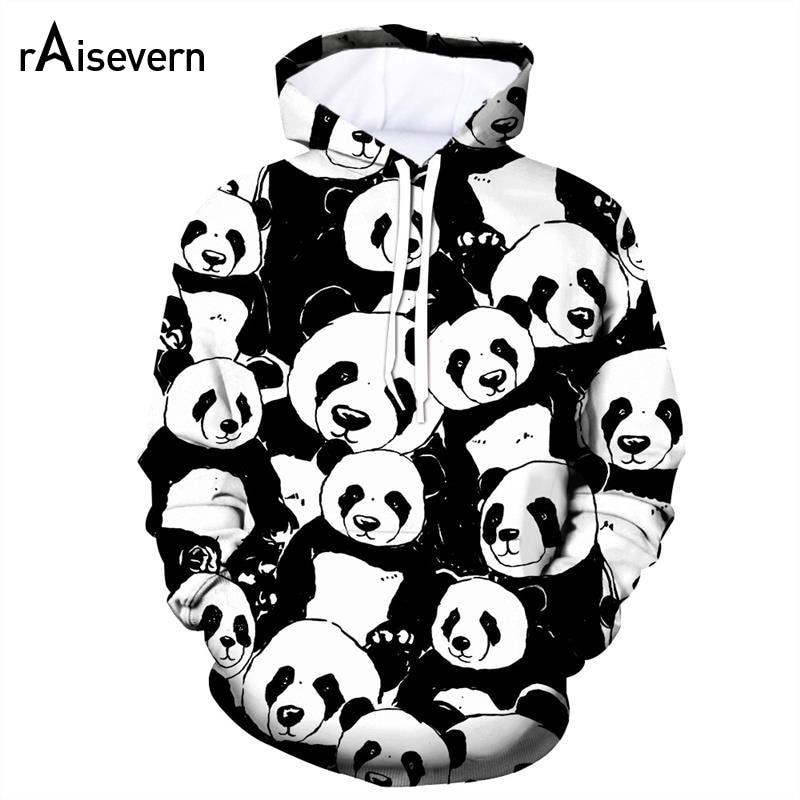 Unisex 3D Novelty Hoodies Panda,Couple of Bears in Love,Sweatshirts for Women