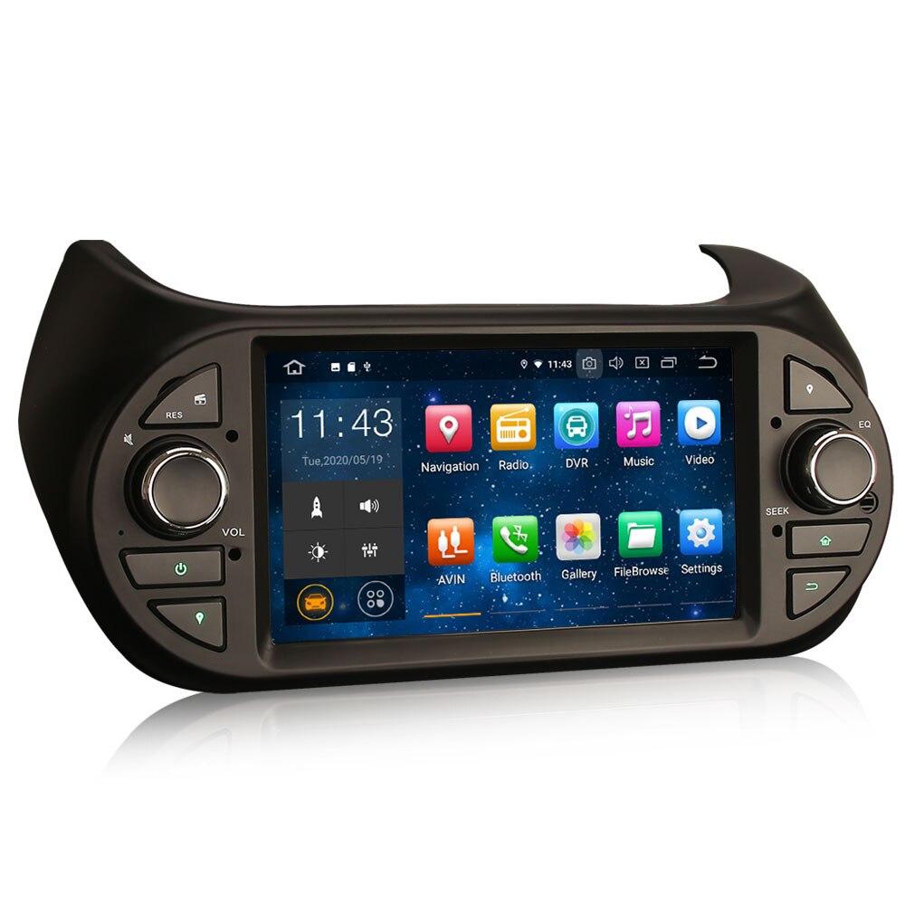 """7 """"Android 10.0 os Car Multimedia Sistema de Navegação GPS Radio Player para Peugeot Bipper 2008-2017 com Divisão suporte de tela"""