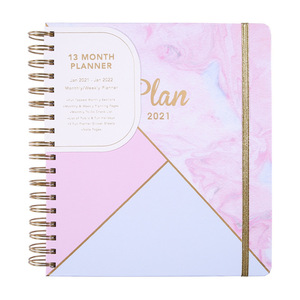 B5 Agenda 2020 2021 Spiral Notebook and Journals Kawaii English Inner Pages Notepad Weekly Monthly Plan Schedule Book Stationery