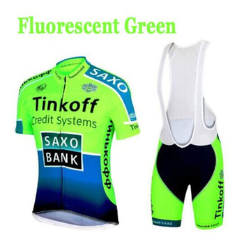 Tinkoff Ciclismo Jersey 2019 verano Pro equipo bicicleta Jersey Kit transpirable MTB...