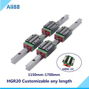 Xy etapa riel lineal de guía de 20mm liniar carril HGR20 cualquier longitud + rodamiento lineal Plaza HGH20CA o brida HGW20CC запчасти для cnc