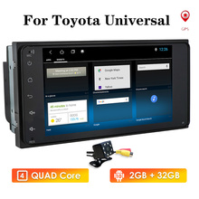 Android10 2Din araba radyo Video oynatıcı Toyota RAV 4 2001 2008 için Corolla RAV4 Prado Hilux Terios Vitz Avanza land multimedya
