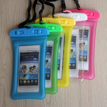 Floating Airbag Swimming Bag Waterproof Mobile Phone Pouch Cell Case For Swim Diving Surfing Beach universal 3.5 -6.5 inch