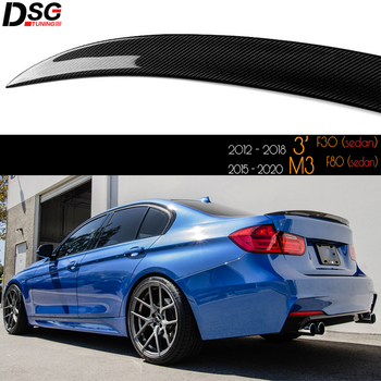 Performance Carbon Fiber Rear Trunk Spoiler for BMW F30 3 Series (2012 - 2018) F80 M3 Great Fitment UV-Cut High Gloss Finished