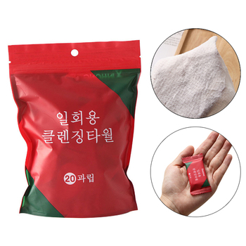 20pcs/bag Portable Compressed Towel Large Travel Outdoor Disposable Towel Cotton Thickened Travel Face Cleansing Face Care Towel недорого