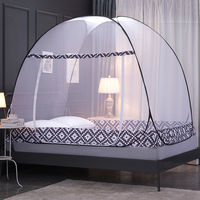 Mongolian Yurt Mosquito Net Single Door All Bottom Bed Net Single Double People Mosquito Net Folding Bed Nets For Travel Camping
