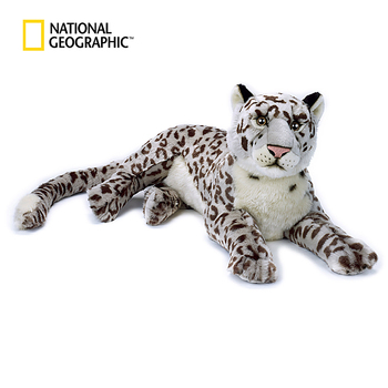 "National Geographic ASAIA 10.5"" Snow Leopard Plushie Leopard Soft Plush Animals Plush Toy Adult Children Girls Boys Friend Gift"