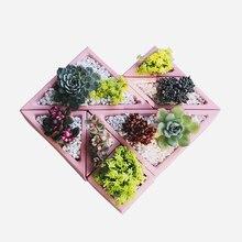 Creative Diamond Square Shape Succulent Flower Pot Mold Gypsum Cement