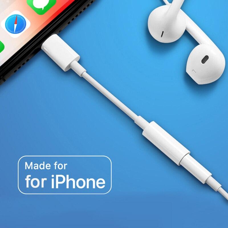 3,5 мм Джек аудио кабель-адаптер для телефона X XS Max 8, 7, 11 наушники разветвитель Aux для наушников для I0S дорогостоящей аксессуары для конвертеро...
