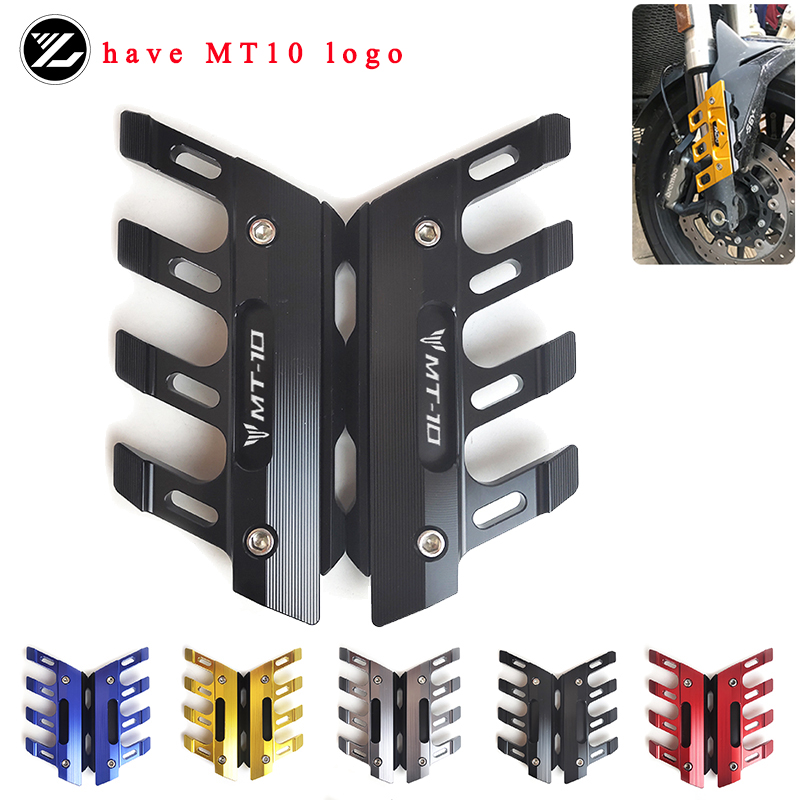 Motorcycle Accessories Front Brake Disc Caliper Protector Cover For <font><b>YAMAHA</b></font> <font><b>MT</b></font>-<font><b>10</b></font> <font><b>MT</b></font> <font><b>10</b></font> FZ-<font><b>10</b></font> FZ10 MT10 2015 2016 2017 2018 image
