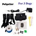 3 hunde Unterirdischen Elektrische Schock Hund Haustier Fechten System InGround Hund Zaun Kragen Hund Ausbildung Trainer Kragen auf