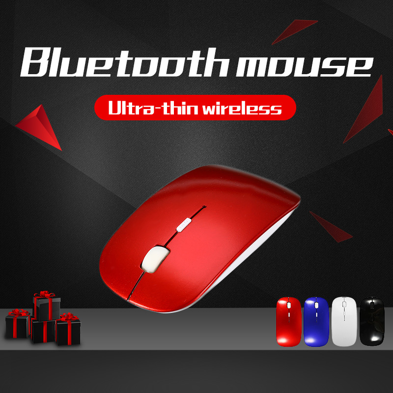 4 Colors Slim Bluetooth 3.0 10m 1000-1800DPI Wireless Mouse For Windows Computer PC Laptop Android 3.1 + Tablet