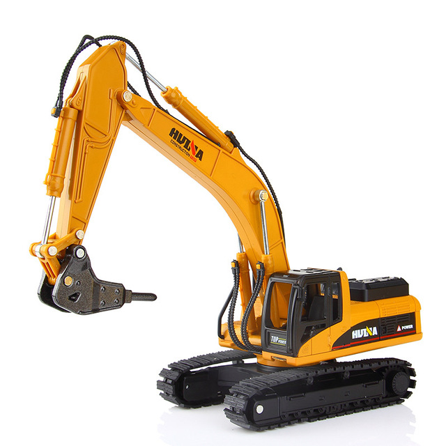 1:50 Metal Alloy Diecast Toy Excavator Truck Model Autotruck Car Model Toys For Boys Navvy Engineering Truck Collection Toys 2