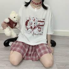 Женские летние футболки топы милая рубашка в готическом стиле