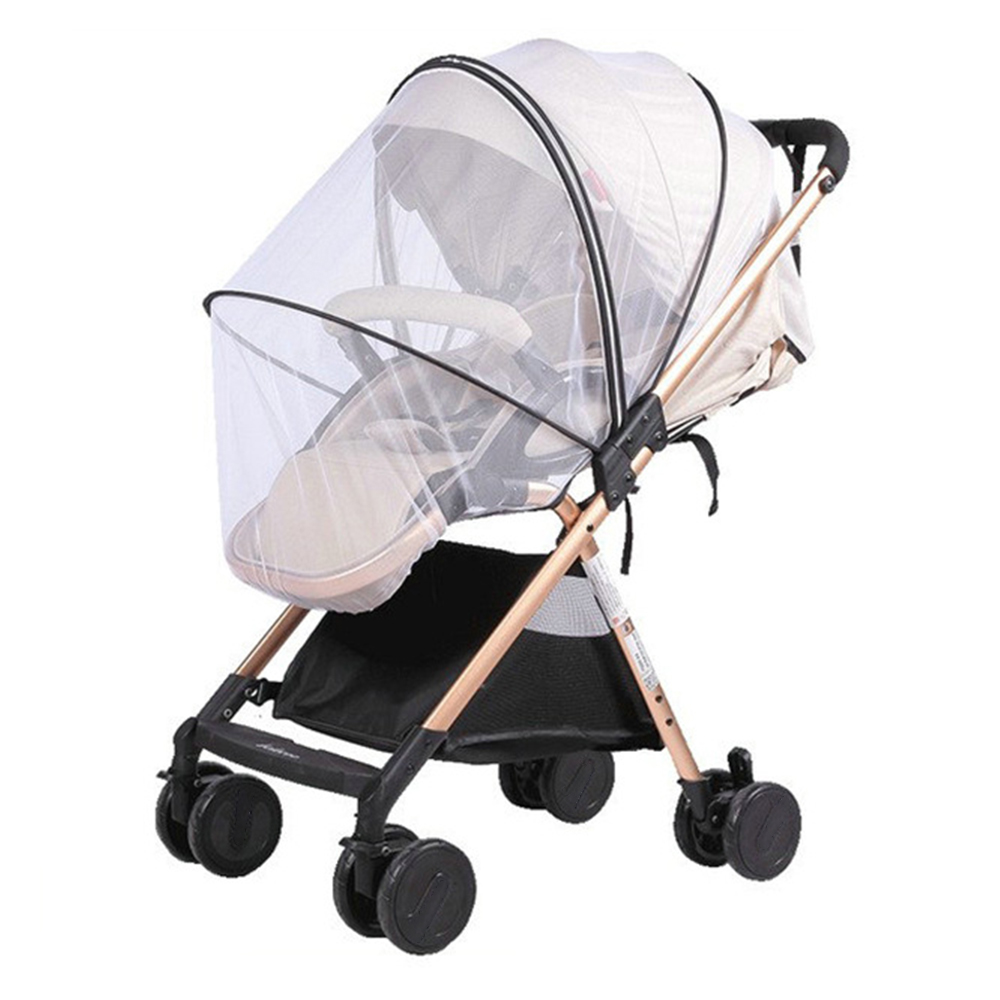 Mosquito Nets For Baby Strollers Universal Buggy Insect-resistant To Mosquitoes Baby Protector  With 3D Support Two-Way Zipper