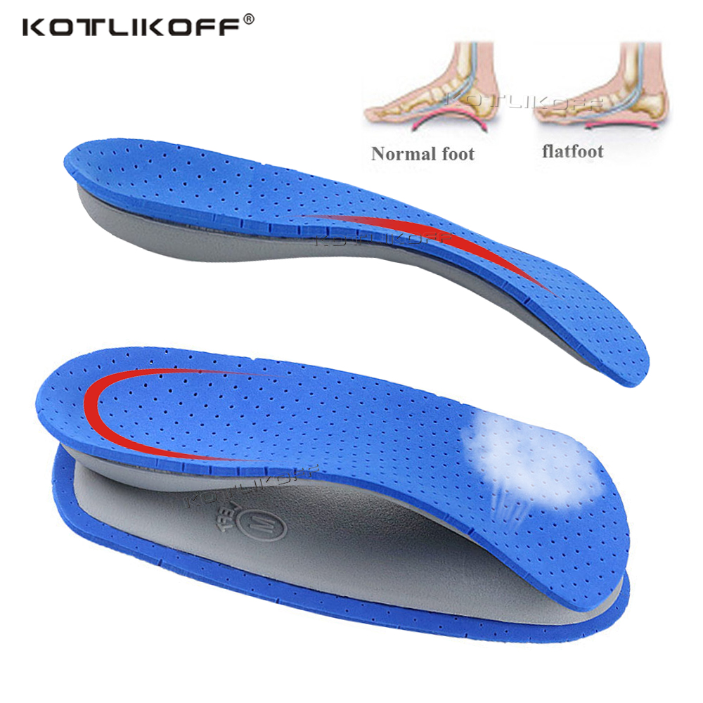 KOTLIKOFF Orthopedic Insoles For Feet Heel Flatfoot Arch Support Pads 3/4 Length Orthotic  Shoes Insole Foot Health Care Sole