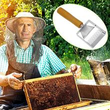 Bee keeping knife Stainless Steel Bee Hive Uncapping Fork Scraper Shovel Honey Fork Honey Comb Double Needle bee scraper double ended fork stainless steel honey comb uncapping fork honey scraper wooden handle beekeeping tool