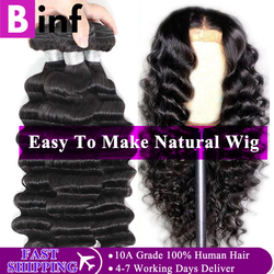 Binf cabelo indiano solto onda profunda cabelo 1/3/4 pacotes
