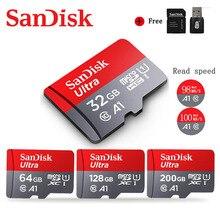 Карта памяти Sandisk Ultra Micro SD для телефона, карта памяти SD/TF на 64 ГБ, 128 ГБ, 256 ГБ, 400 ГБ, 16 ГБ, 32 ГБ, 128 ГБ