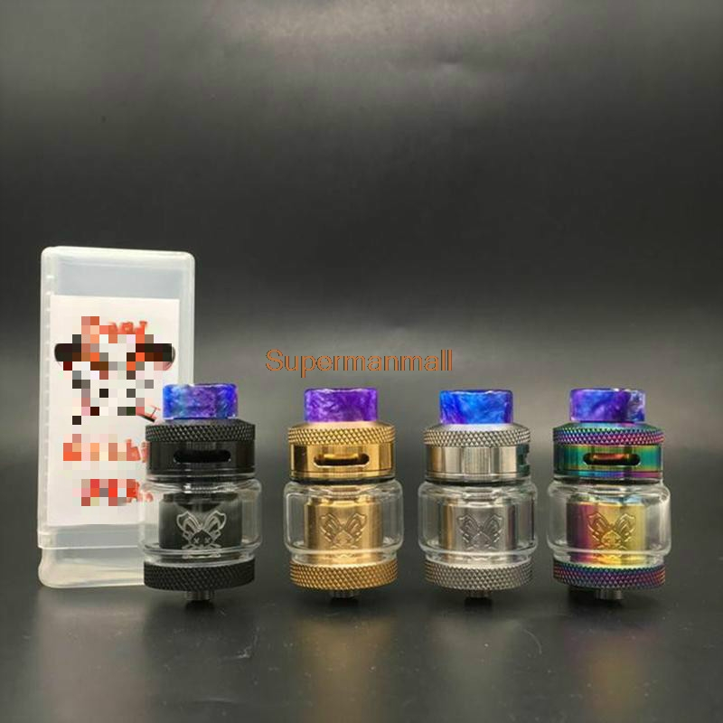 Deadth Rabbit RTA 2ml 4.5ml 25mm Diameter Rebuildable Tank Atomizer Compatible Single Dual Coil With 810 Drip Tip For 510 Thread