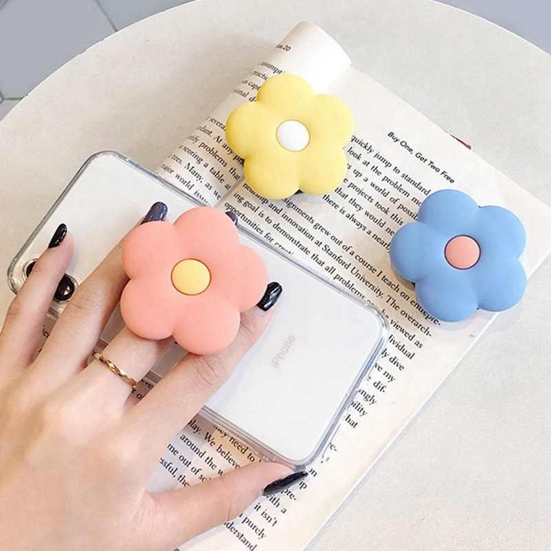 Anillo de teléfono móvil de aguacate de dibujos animados soporte telescópico plegable pasta de plástico suave soporte Universal para teléfono móvil