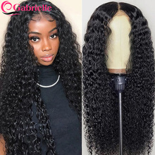 30 Inch Kinky Curly Lace Front Wigs for Women Brazilian Human Hair Glueless Lace Closure Wigs 150 Density Remy Hair Gabrielle