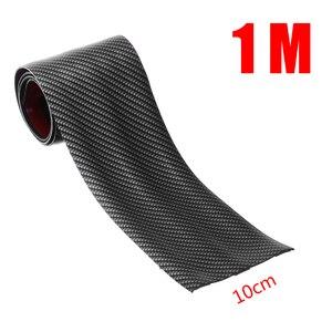Image 5 - 3cm 5cm 7cm 10cm Carbon Fiber Rubber Soft Bumper Strip DIY Door Sill Protector Edge Guard Car Stickers Car Styling Accessories