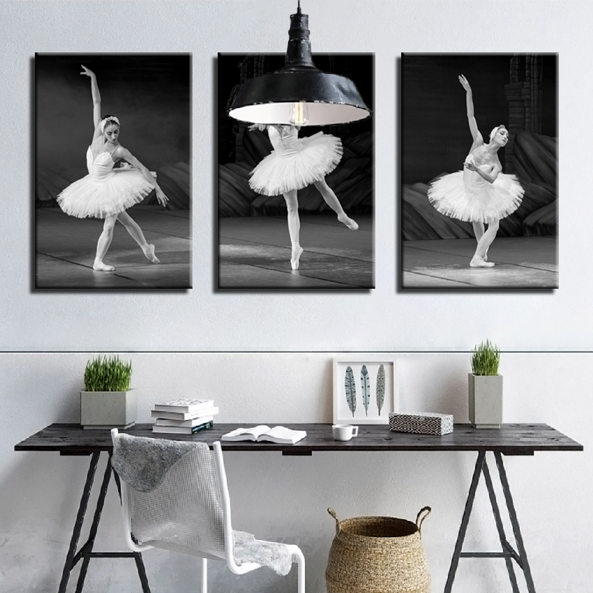 Print Canvas Painting African Woman Vintage Ballerina Girl Flower Posters and Wall Art Picture for Living Room 30x50 cm//11.8 x 19.7 No Frame