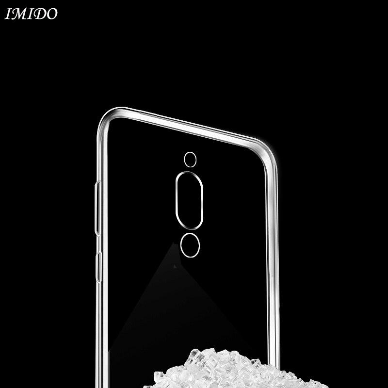IMIDO Silicone Case for Xiaomi Mi 9 9SE TPU Soft Black Shark Helo 2 Protective Cover Transparent
