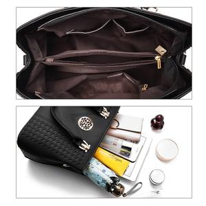 Image 3 - ใหม่เย็บปักถักร้อยไหล่กระเป๋าแฟชั่นสีMessengerหญิงTotes Crossbodyกระเป๋าผู้หญิงหนังกระเป๋าถือ